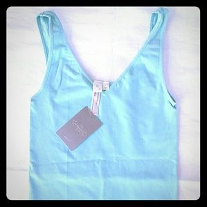 ANTHROPOLOGIE SEAMLESS TANK KELLY GREEN